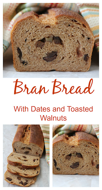 Bran Bread with Dates and Toasted Walnuts