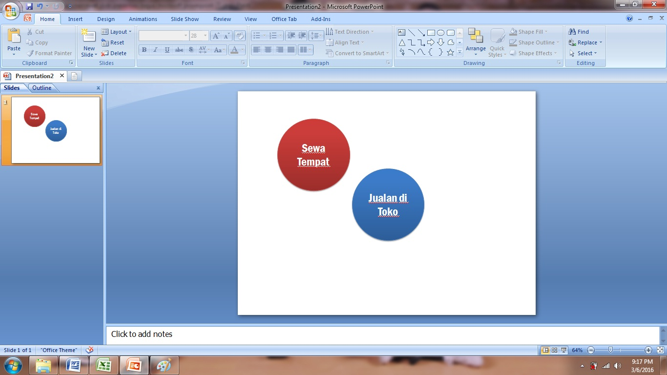 kata, model, warna, lingkaran, pilih, mengatur, belajar, tutorial, cara, membuat, slide, presentasi, menarik