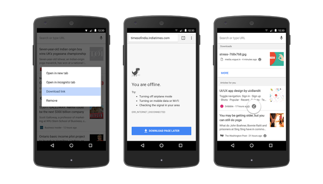 Chrome-android-offline-access-features