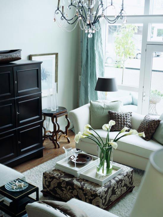 Damask Living Room Decor: New Home Interior Design: Furniture Arrangement Ideas For