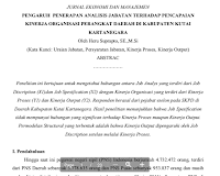 Contoh Jurnal Penelitian Peran Kepemimpinan Dalam Pencapaian Kinerja Organisasi