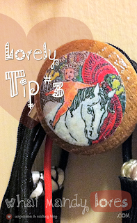 Lovely Tip #3: Decorative Knobs for Hair Accessories via www.whatmandyloves.com