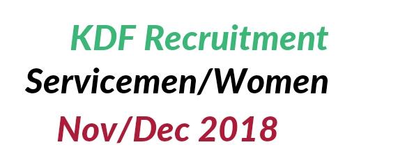 KDF recruitment dates 2018