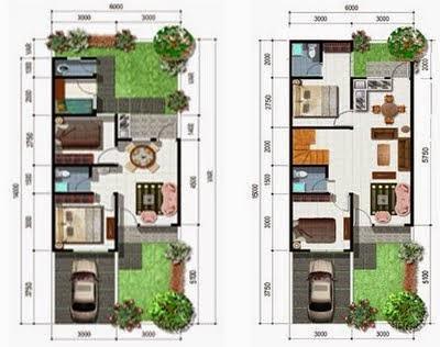 Desain Rumah Minimalis 2 Lantai Type 50