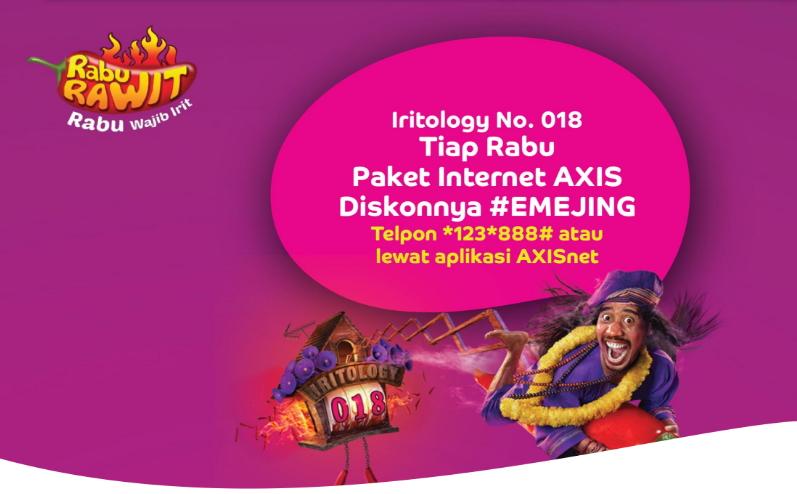 Promo Rabu Rawit : Paket Internet Paling Murah
