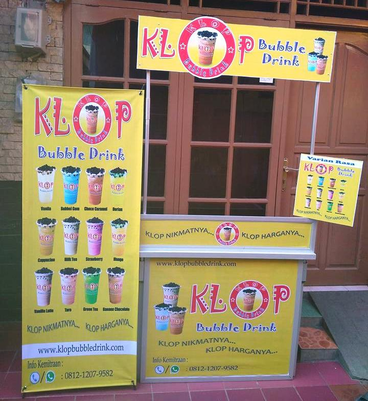 Contoh Banner Bubble Drink - desain spanduk keren