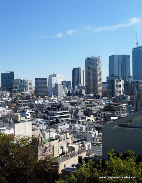 vistas de Tokio desde Omotesando