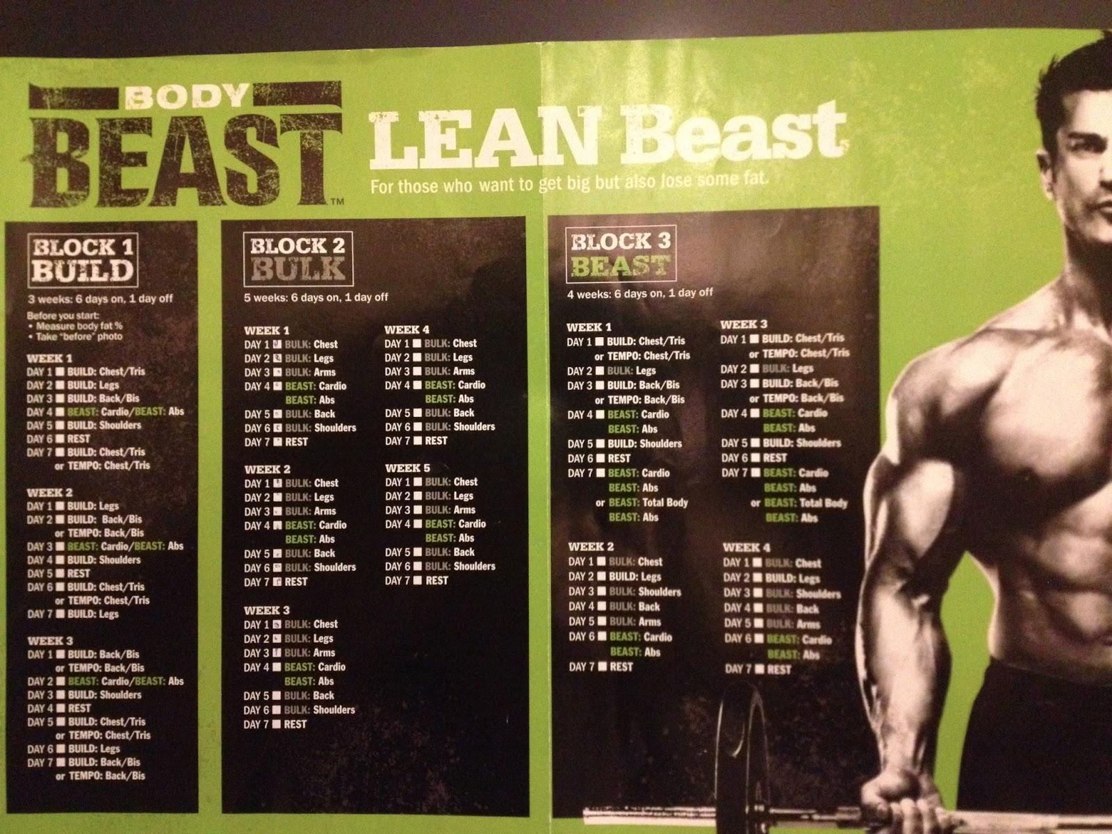 Week 1 Body Beast/T25 Hybrid and Meal Plan | Melanie Mitro