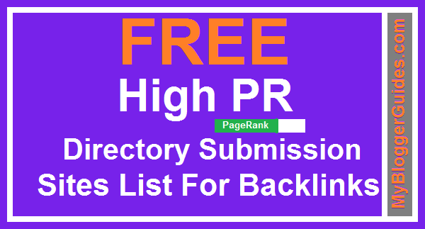 High PR Directories, Directory Submission Sites, List Of Directory Submission Sites