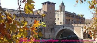 Roma pontos turisticos ILHA TIBERINA - Pontos turísticos de Roma