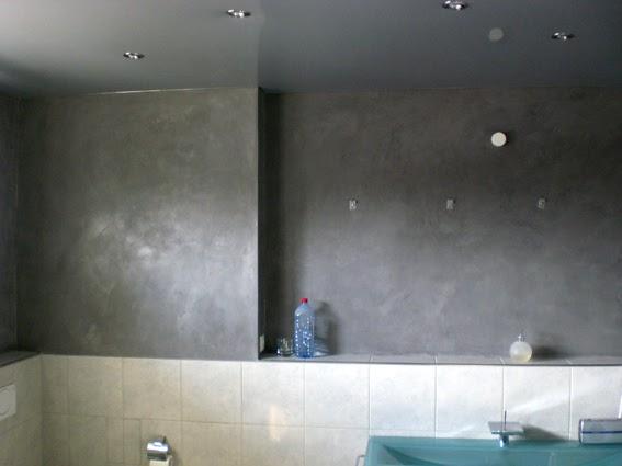 Farbe Kunst Putz: Beton Cire Bad