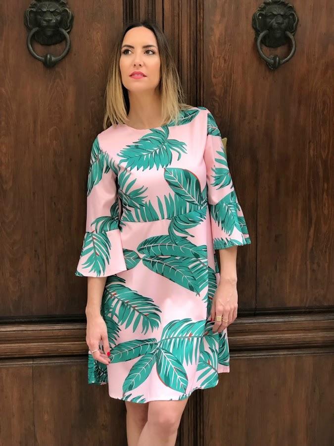 Fitness And Chicness-Leaf Print Dresses La Familia-8