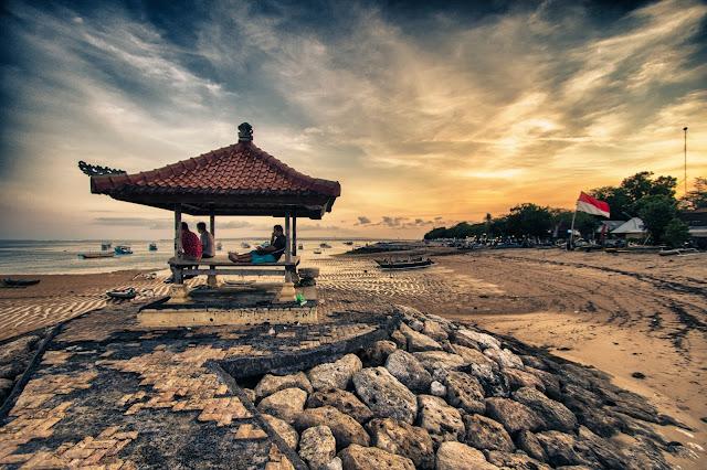 Tramonto a Pantai Sanur-Bali