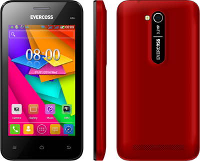 Gambar HP Evercoss A5A Merah