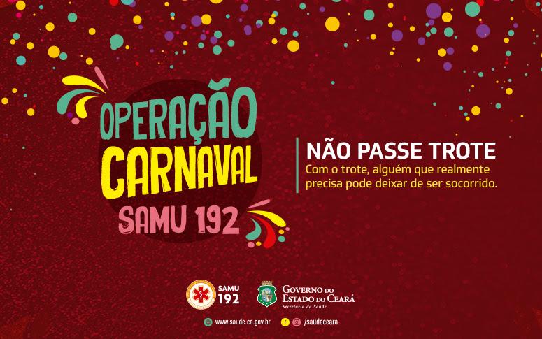 Samu inicia Operação Carnaval 2019 313f73698cb