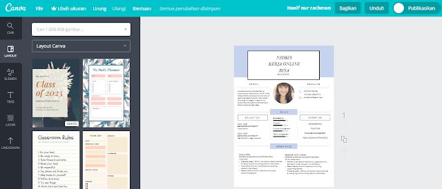 Situs untuk membuat portofolio