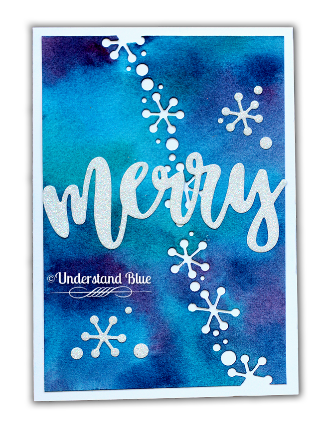 Diecember card by Understand Blue