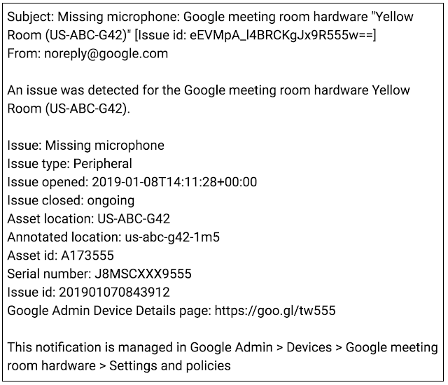 New Hangouts Meet peripheral issue alerts and improved connectivity alerts