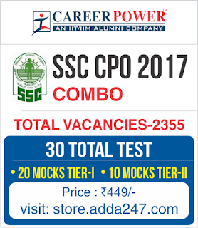 SSC CPO 2017 Online Test Series