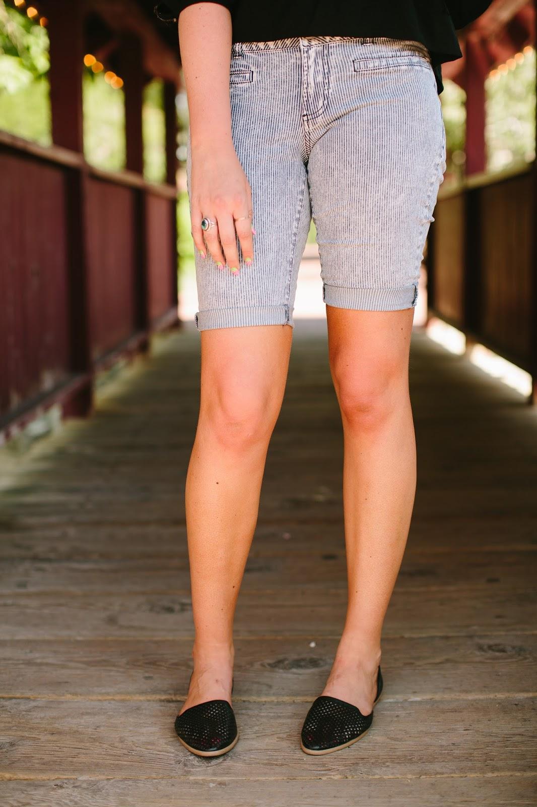 Modest Shorts, Striped Shorts, Cute shorts