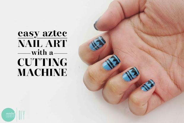 nail polish aztec art stencils