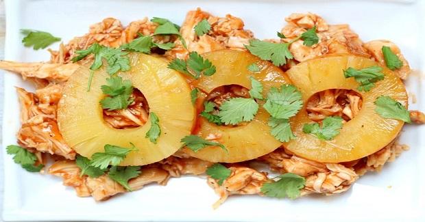 Easy Slow Cooker Hawaiian Chicken Sandwiches Recipe