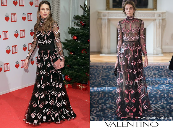 Queen Rania wears Valentino Dress - Spring 2017 Ready-to-Wear Collection