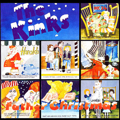Portada del single Father Christmas de The Kinks de 1977