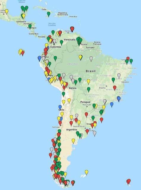 Estudos sobre o aquecimento do clima na América do Sul  no período quente medieval.  Clique aqui para ver a lista dos 1.200 estudos sobre o fenômeno
