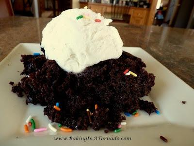 Crockpot Chocolate Caramel Cake| www.BakingInATornado.com | #recipe