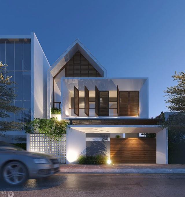 An elegant tube-house design