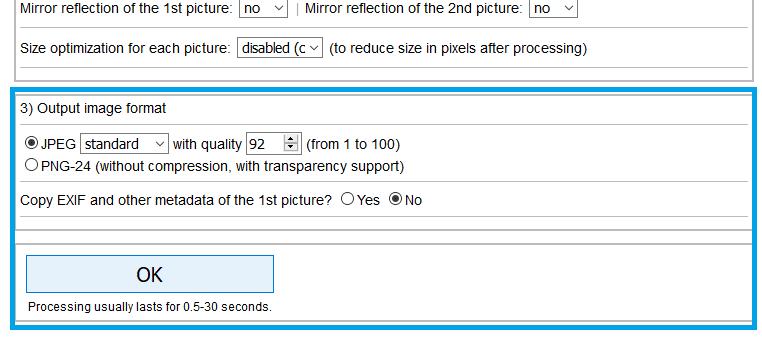 cara menggabungkan foto JPG online