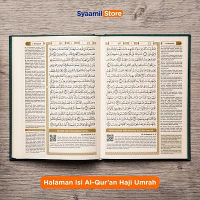 isi halaman al-quran haji dan umrah