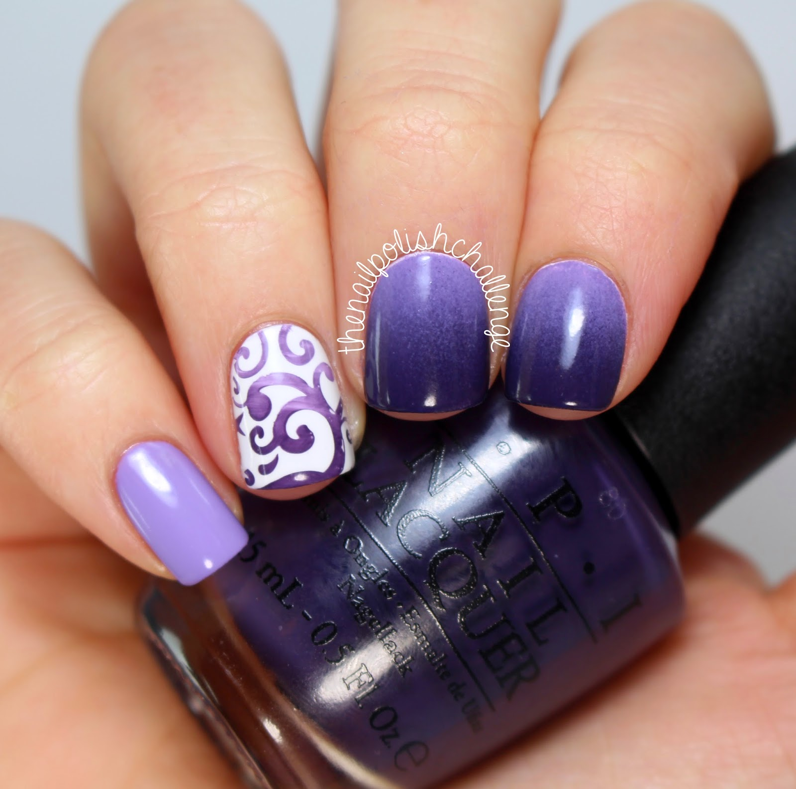 Gradient Nail Art: Kelli Marissa: Gradient Purple Nail Art