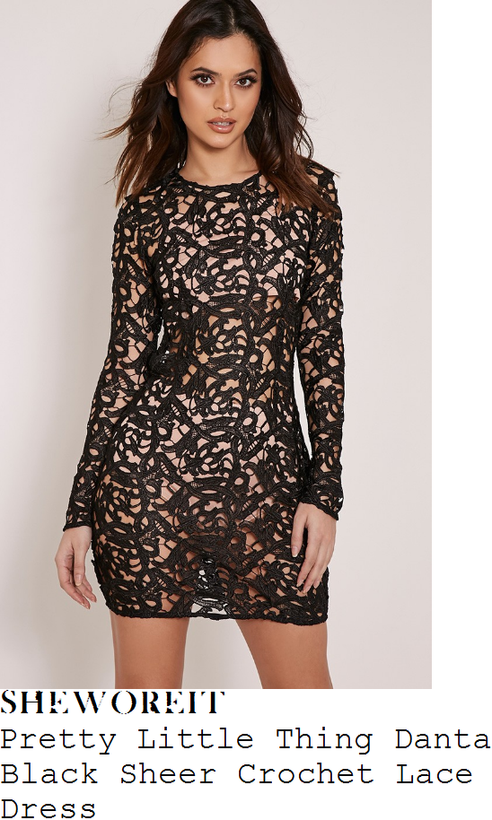 charlotte-crosby-pretty-little-thing-danta-black-sheer-filigree-cut-work-crochet-lace-long-sleeve-bodycon-mini-dress