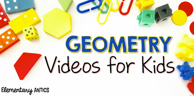 I really like to use videos and songs to help engage my students when we are learning new concepts.  This is a great list of songs and videos to use when teaching Geometry!  I especially like The Polygon Song!