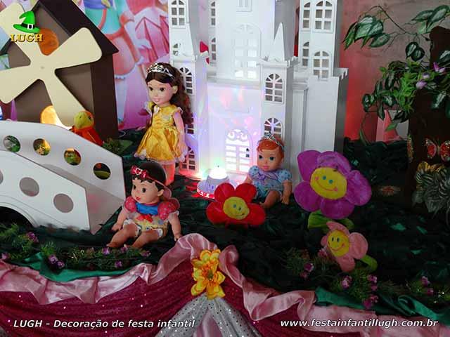 Decoração Princesas Baby Disney para festa infantil feminina - Mesa decorada para aniversário