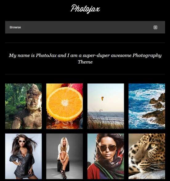 Photojax Minimalist AJAX Photography Portfoli0
