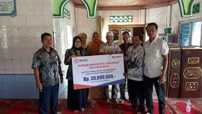 Bulog Divre II Sumbar, menyalurkan CSR untuk Masjid Istiqlal Kampung Pacuan, Nagari Koto VIII Pelangai, Kacamatan Ranah Pesisir.