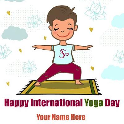 international yoga day cartoon