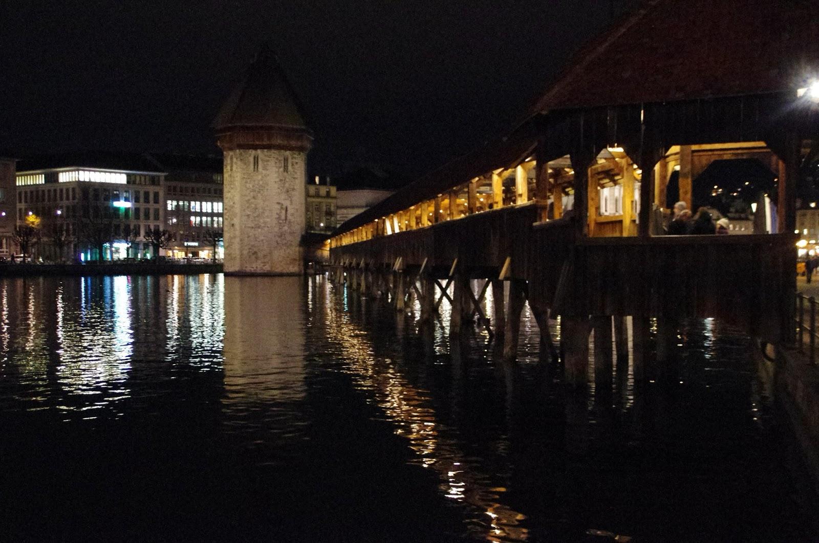 Chapel Bridge Lucerne Night