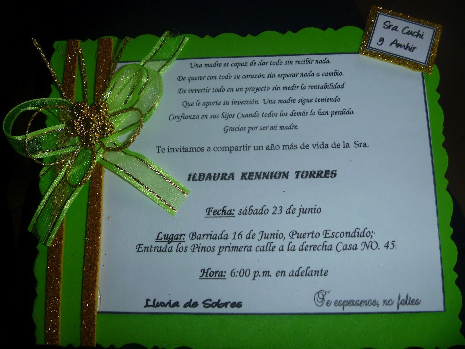 Invitaciones Para Los 50 Años Imagui