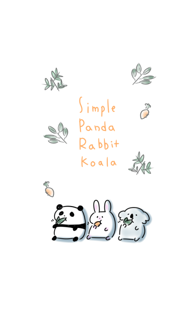 simple Panda Rabbit Koala.