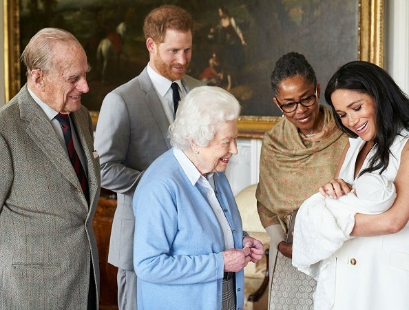 Queen Elizabeth and Prince Philip were introduced to the newborn son of The Duke and Duchess of Sussex
