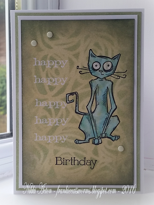 Tim Holtz Crazy Cat Birthday Card