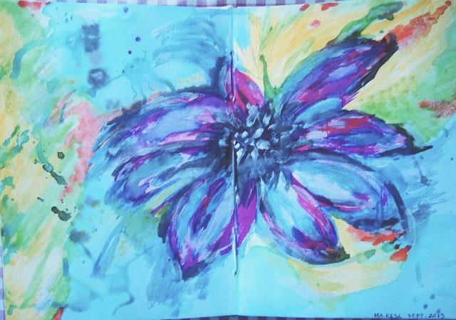 malowany kwiat