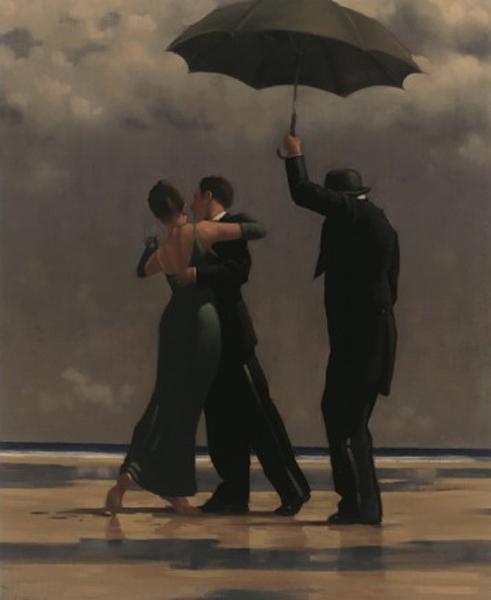 Dançarino de Esmeralda - Jack Vettriano e suas pinturas cheias de encontros íntimos
