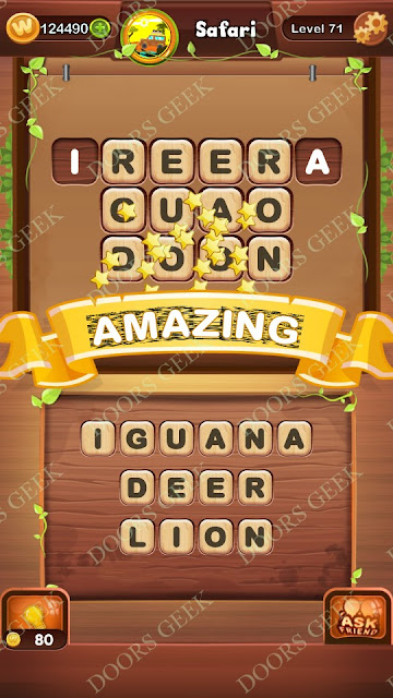 Word Bright Level 71 Answers, Cheats, Solutions, Walkthrough for android, iphone, ipad and ipod