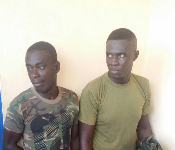 Fake soldiers arrested for assaulting residents in Central Region
