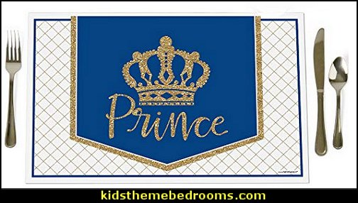 Royal Prince Charming – Party Table Decorations – Baby Shower or Birthday Party Placemats